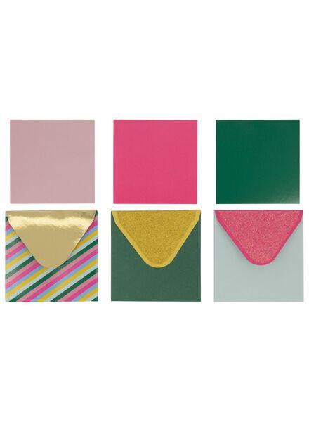 9 mini cartes avec enveloppes 3 x 3 cm - 14700248 - HEMA