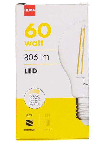 LED light bulb 60W - 806 lm - pear - bright - 20020009 - hema