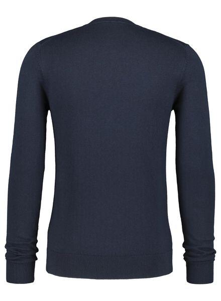 men's sweater dark blue dark blue - 1000017139 - hema