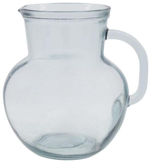 Karaffe, 1.3 L, recyceltes Glas - 9401060 - HEMA