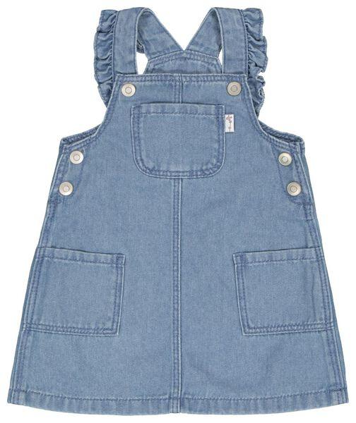 Baby-Latzkleid jeansfarben jeansfarben - 1000022283 - HEMA