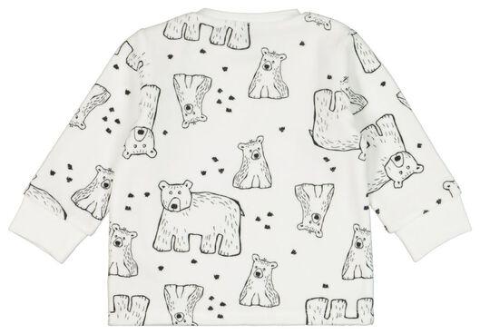 Velours-Baby-Pyjama, Bären eierschalenfarben eierschalenfarben - 1000020005 - HEMA