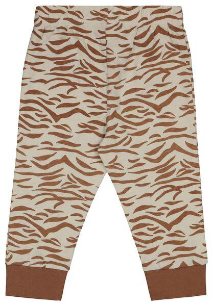 2er-Pack Baby-Pyjamas, Zebra/Regenbogen eierschalenfarben eierschalenfarben - 1000022581 - HEMA