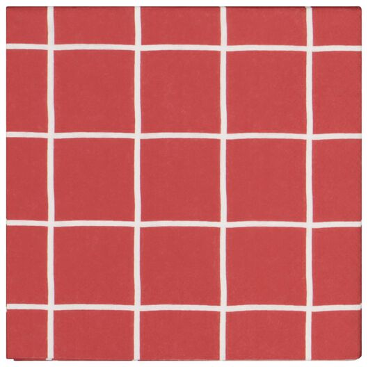 20 serviettes 33x33 en papier - rouge carreau - 25600161 - HEMA