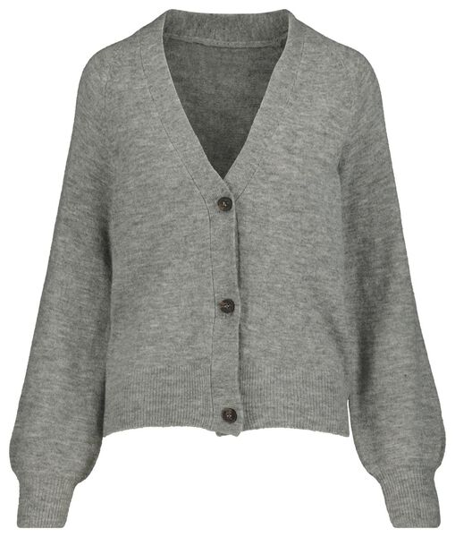 women's knitted cardigan grey melange grey melange - 1000018965 - hema