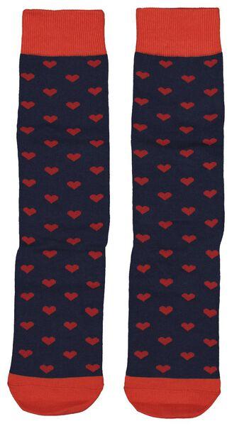 Socken, Größe 42-46, Herzen - 61122835 - HEMA