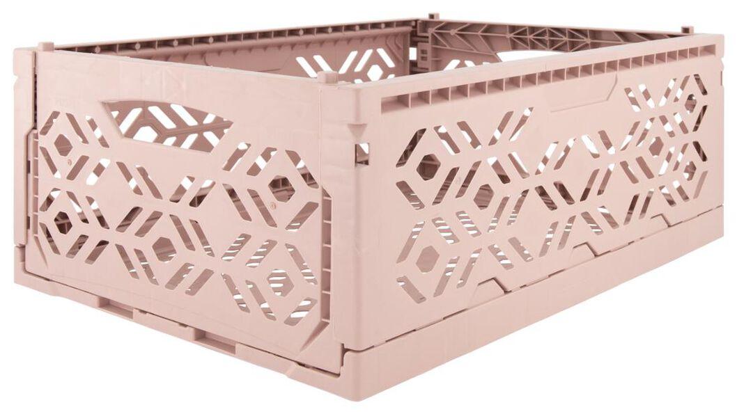 caisse pliante recyclée 30x40x15 - rose - 39821055 - HEMA