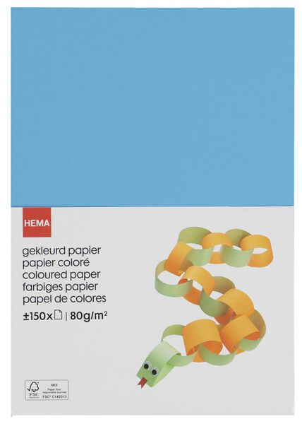 gekleurd papier - 150 stuks - 15910155 - HEMA
