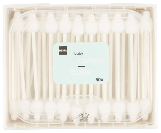 50 baby cotton swabs cotton/paper - 11335006 - hema