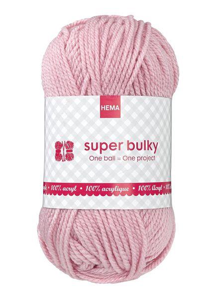 Strickgarn Super Bulky - rosa - 1400072 - HEMA