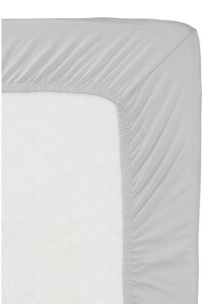 drap-housse - jersey coton - 180x200 cm - gris clair gris clair 180 x 200 - 5140006 - HEMA