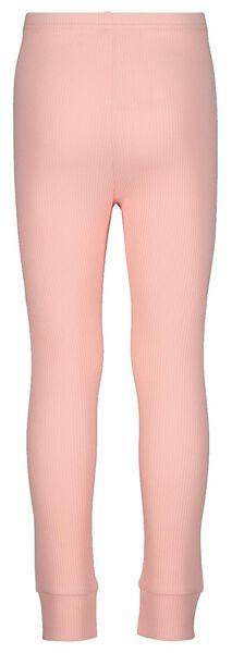 Kinder-Pyjama mit Bambus, gerippt rosa 110/116 - 23070602 - HEMA