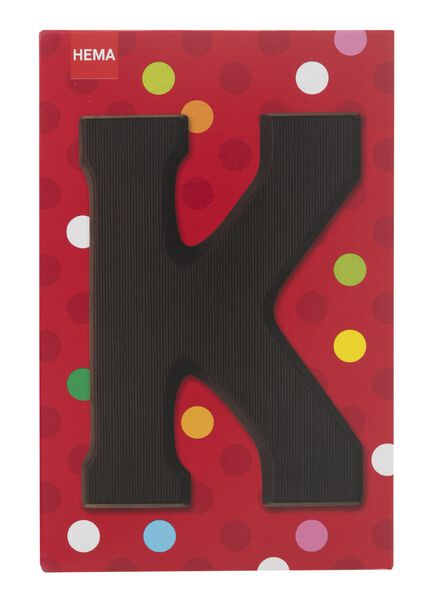 dark chocolate letter K - 10034009 - hema