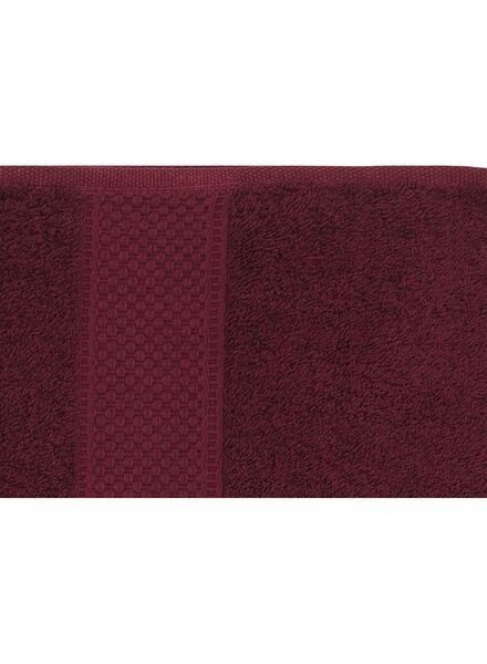 towel - 70 x 140 cm - heavy quality - bordeaux dark red towel 70 x 140 - 5220006 - hema