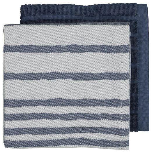Image of HEMA 2 Towels Kitchen And Tea - Stripe Blue