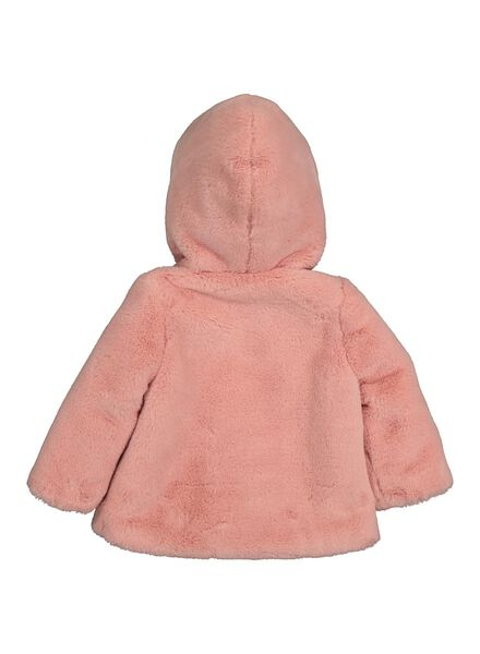 manteau bébé - imitation fourrure rose rose - 1000014303 - HEMA