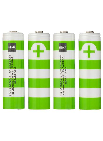 4-pack AA rechargeable batteries - 41210518 - hema