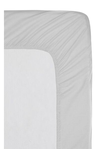 Spannbettlaken – Baumwollperkal in Hotelqualität – 180 x 200 cm – hellgrau - 5140039 - HEMA