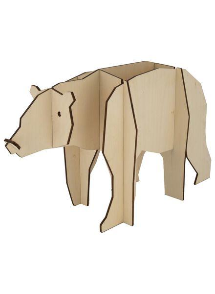 Holz-Eisbär, 45 x 18 x 27 cm - 25103059 - HEMA
