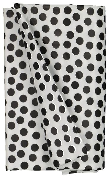 table oil-cloth 140x240 polyester - dots white/black - 5300068 - hema