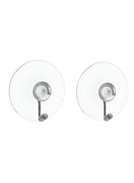 Image of HEMA 2-pack Of Hooks With Suction Cup (transparent)