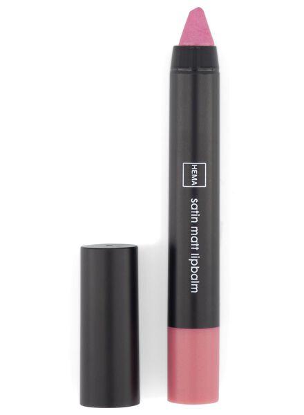 satin matt lip balm 12 pink - 11230312 - hema