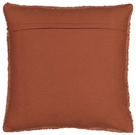 cushion filled 50x50 imitation fur terracotta - 7322025 - hema