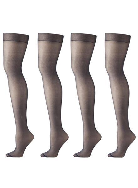 Strumpfhosen für Frauen - HEMA 4er Pack Strumpfhosen, Matt, 20 Denier Dunkelblau  - Onlineshop HEMA