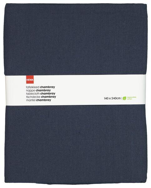 tablecloth 140x240 chambray cotton - dark blue - 5300097 - hema