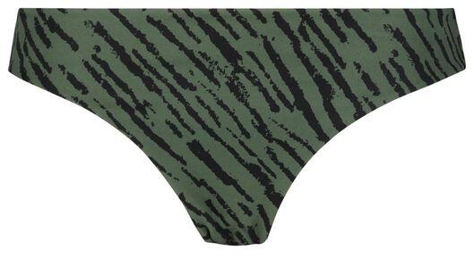 Bademode - HEMA Damen Bikinislip, Zebramuster Graugrün  - Onlineshop HEMA