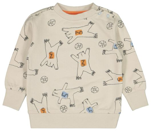 Babyoberteile - HEMA Baby Sweatshirt, Bären Ecru - Onlineshop HEMA