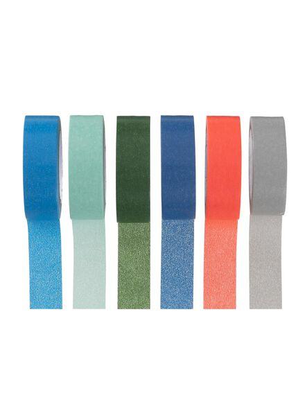 6 rouleaux de ruban adhésif washi - 14880095 - HEMA