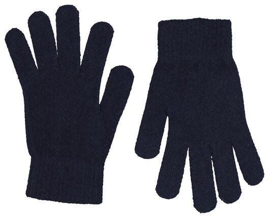 Kinder-Handschuhe, superweicher Strick dunkelblau dunkelblau - 1000020803 - HEMA