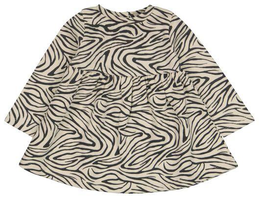 Babykleiderroecke - HEMA Baby Kleid, Zebra Eierschalenfarben - Onlineshop HEMA