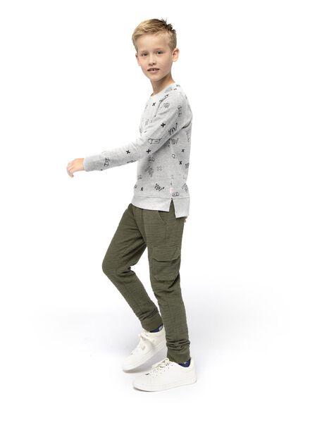 pantalon sweat enfant vert foncé vert foncé - 1000016743 - HEMA