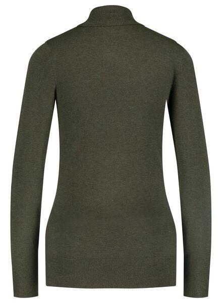 women's turtle-neck sweater army green army green - 1000015660 - hema