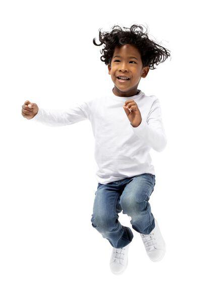 2-pack children's T-shirts - organic cotton white white - 1000019383 - hema