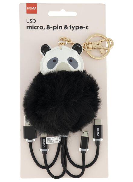 USB laadkabel panda - 39677705 - HEMA
