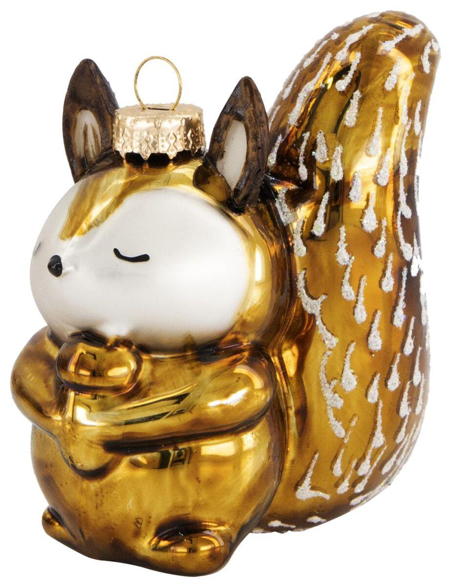boule de noël verre écureuil - 25103215 - HEMA