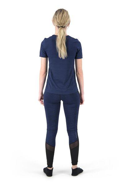 women's sports shirt slim fit dark blue dark blue - 1000018822 - hema