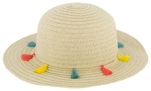 children's straw hat with tassels beige beige - 1000023103 - hema