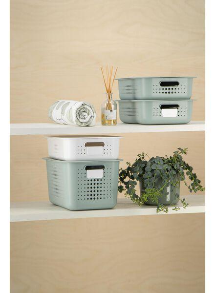 boîte de rangement 37 x 28 x 15 - plastique recyclé - vert - 39891009 - HEMA