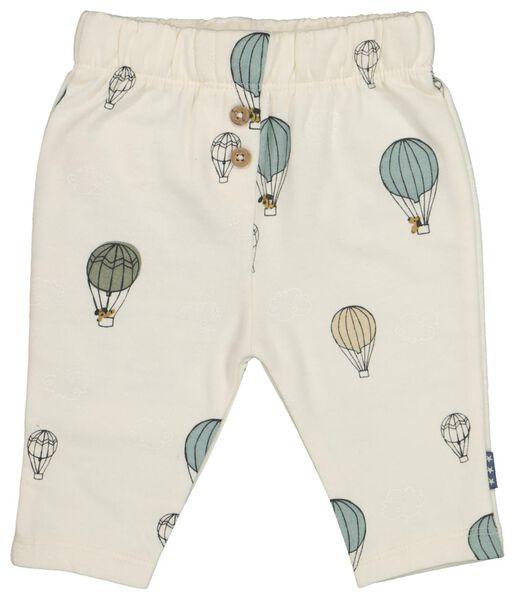 Newborn-Sweathose, Luftballons eierschalenfarben 56 - 33413012 - HEMA
