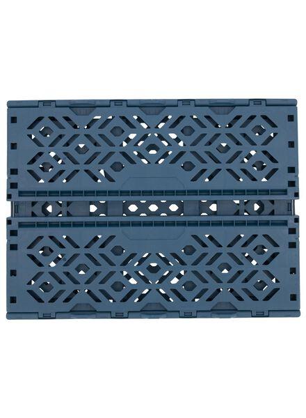 caisse pliante recyclée 39 x 29 x 15 cm - bleu bleu foncé 39 x 29 x 15 - 39892907 - HEMA