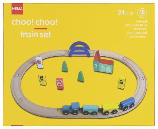 wooden train set - 15122234 - hema