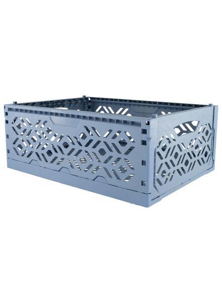 Recycling-Klappkiste – 39 x 29 x 15 cm – blau - 39891046 - HEMA