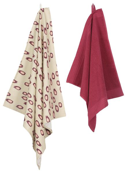 kitchen towel 50x50 dusky pink - 5400123 - hema