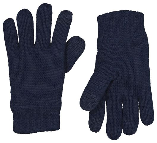 Kinder-Handschuhe dunkelblau 158/164 - 16750175 - HEMA