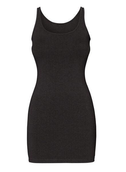 débardeur femme extra long noir XL - 36386061 - HEMA