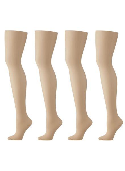 Strumpfhosen für Frauen - HEMA 4er Pack Strumpfhosen, Matt, 20 Denier Puder  - Onlineshop HEMA